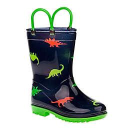 Josmo Shoes Dino Rain Boot in Navy/Green