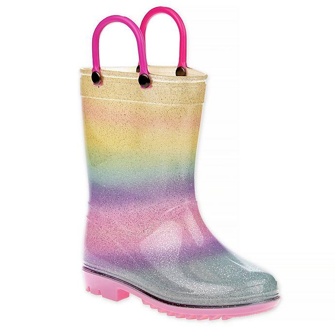 Alternate image 1 for Laura Ashley® Rainbow Rain Boot