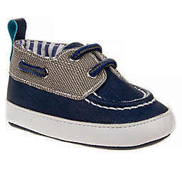 Joseph Allen Casual Boat Shoe in Navy/Grey