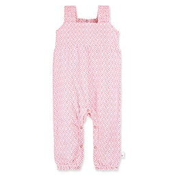 Burt's Bees Baby® Chevron Organic Cotton Sleeveless Jumpsuit in Peach