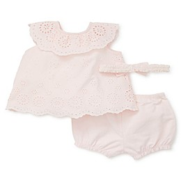 Little Me® 3-Piece Eyelet Sunsuit in Pink