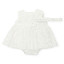 Little Me® 2-Piece Daisy Shine Popover Bodysuit and Crown Set in Ivory