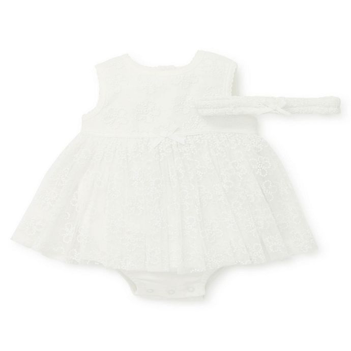 Alternate image 1 for Little Me® 2-Piece Daisy Shine Popover Bodysuit and Crown Set in Ivory