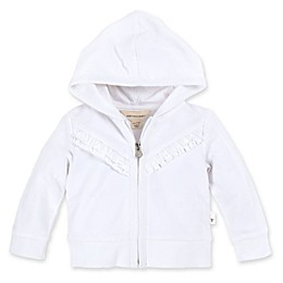 Burt's Bees Baby® Ruffle Organic Cotton Jacket in Cloud