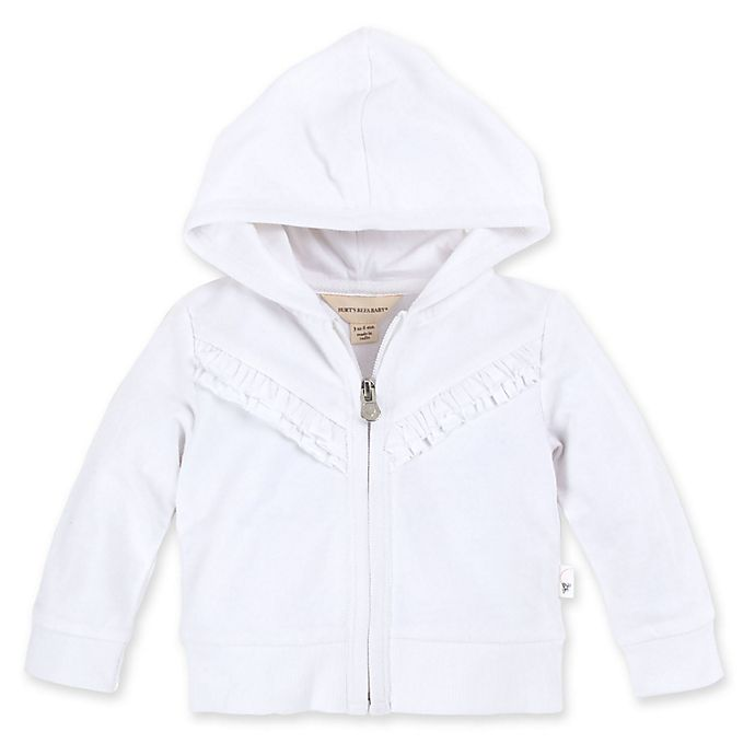 Alternate image 1 for Burt's Bees Baby® Ruffle Organic Cotton Jacket in Cloud