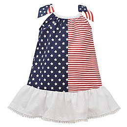 Bonnie Baby American Flag Dress in Red/White/Blue