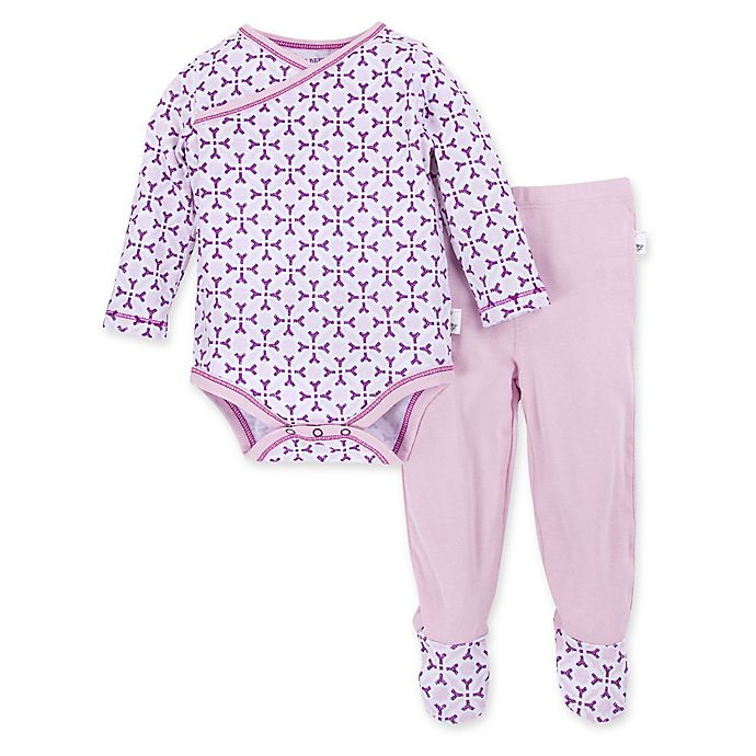 Alternate image 1 for Burt's Bees Baby® Spice Market Organic Cotton Bodysuit and Pant Set in Lilac