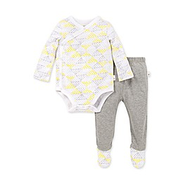 Burt's Bees Baby® 2-Piece Spotted Diamond Organic Cotton Kimono Bodysuit and Pant Set