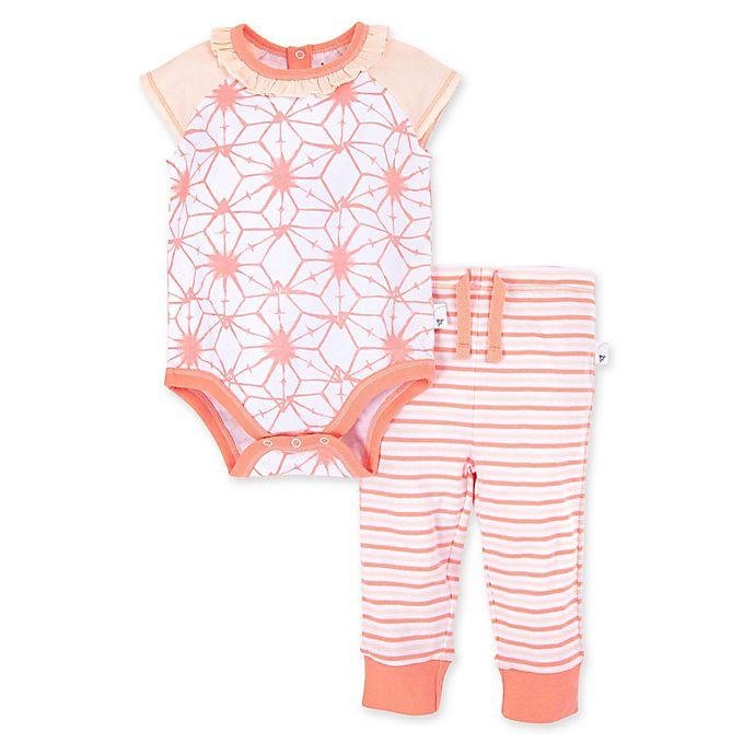 Alternate image 1 for Burt's Bees Baby® 2-Piece Tie Dye Star Organic Cotton Bodysuit and Pant Set