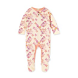 Burt's Bees Baby® Sweet Floret Organic Cotton Footie in Pear