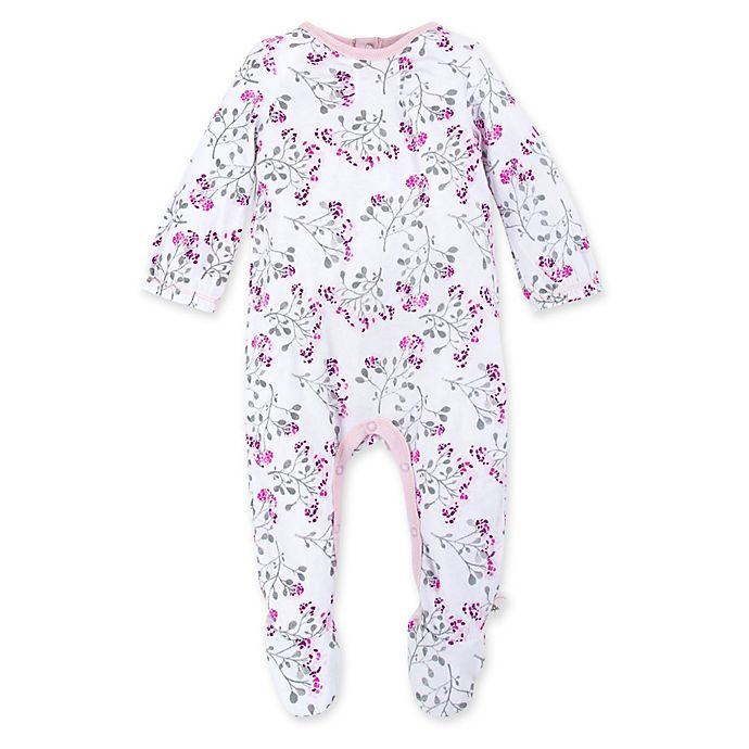 Alternate image 1 for Burt's Bees Baby® Mosaic Bloom Organic Cotton Footie