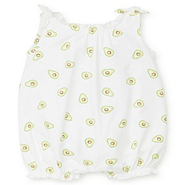 Focus Kids™ Avocado Romper with Bow in White/Green