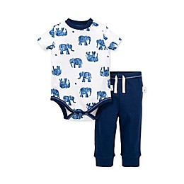 Burt's Bees Baby® 2-Piece Wandering Elephants Organic Cotton Bodysuit and Pant Set