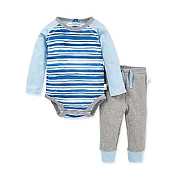 Burt's Bees Baby® 2-Piece River Stripe Organic Cotton Bodysuit and Pant Set