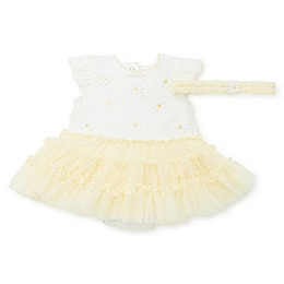 Little Me® 2-Piece Daisy Tutu Popover and Headband Set in Yellow
