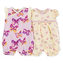 Burt's Bees Baby® 2-Pack Butterflies Awaken Organic Cotton Bubble Rompers