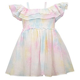 Bonnie Baby Tie-Dye Dress with Ruffles