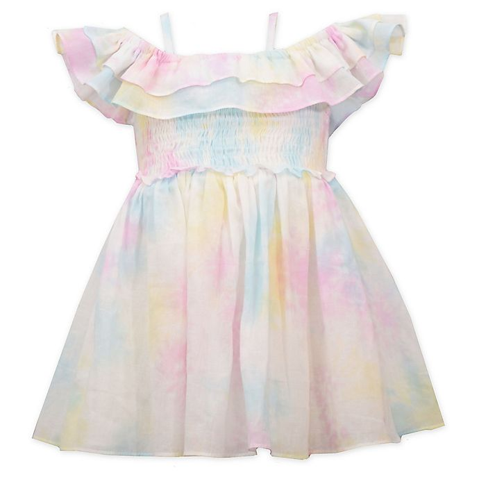 Alternate image 1 for Bonnie Baby Tie-Dye Dress with Ruffles