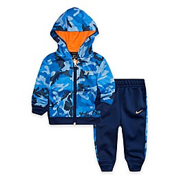 Nike® 2-Piece Camo Therma Toddler Hoodie and Jogger Set in Blue