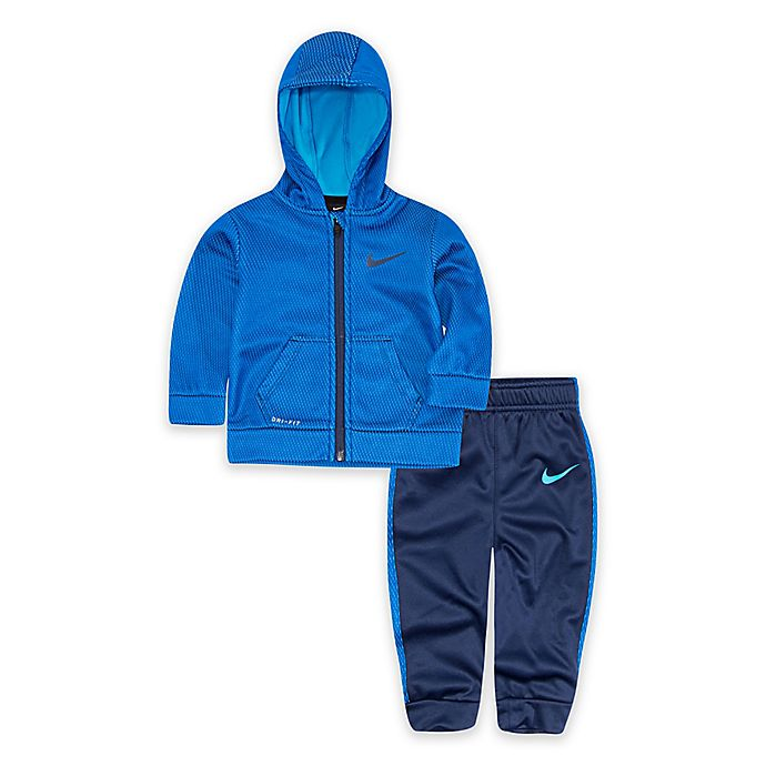 Alternate image 1 for Nike® 2-Piece Therma Hoodie and Pant Set in Blue