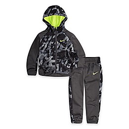 Nike® 2-Piece Legacy Therma Toddler Hoodie and Jogger Set in Dark Grey