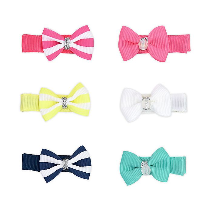 Alternate image 1 for carters® 6-Pack Mini Hair Bow Clips