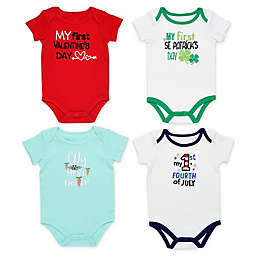 Baby Starters® 4-Pack My First Holiday See Me Grow Bodysuits