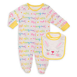 Baby Starters® 2-Piece First Easter Rainbow Letters Footie and Bib Set