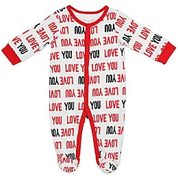 Baby Starters® Love You Sleep and Play Footie in White