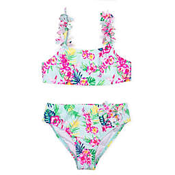Kate Mack 2-Piece Floral Swimsuit in Blue
