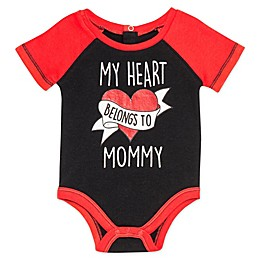 Baby Starters® Heart Belongs to Mommy Bodysuit in Black
