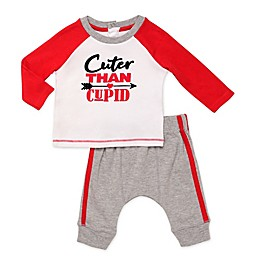 "Baby Starters® 2-Piece ""Cuter than Cupid"" Shirt and Pant Set in Red"