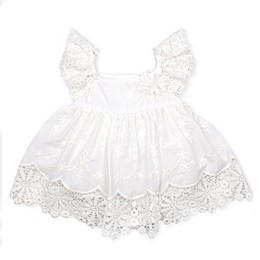 Baby Biscotti Lace Dress in Ivory