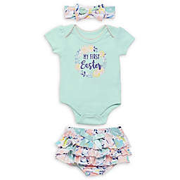 Baby Starters® 3-Piece My First Easter Body Suit Set in Green