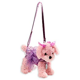 Poochie And Co® 3-Inch Plush Maltese Puppy Purse in Lavender