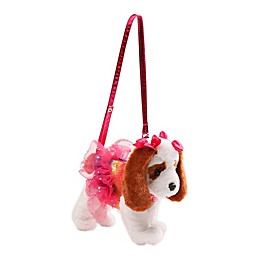Poochie and Co® King Charles Plush Puppy Handbag