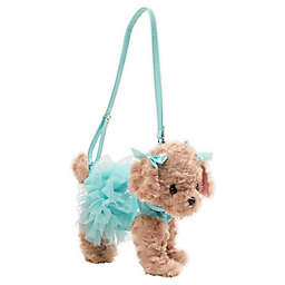 Poochie and Co® Labradoodle Plush Puppy Handbag in Mint