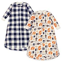 Hudson Baby® 2-Pack Forest Bear Long Sleeve Fleece Wearable Blankets
