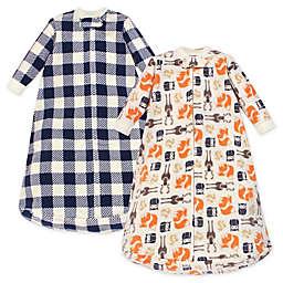 Hudson Baby® Size 0-9M 2-Pack Forest Bear Long Sleeve Fleece Wearable Blankets