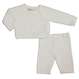 Clasix Beginnings™ by Miniclasix® Preemie 2-Piece Knit Top and Sweater Set in White