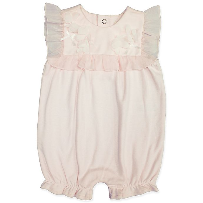 Alternate image 1 for Clasix Beginnings™ by Miniclasix® Square Ruffles Romper in Pink