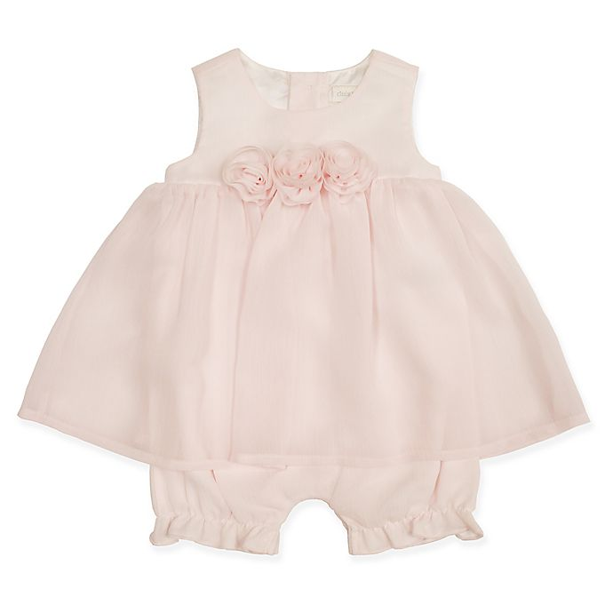 Alternate image 1 for Clasix Beginnings™ by Miniclasix® Chiffon Romper in Pink