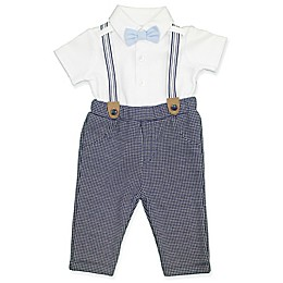 Clasix Beginnings™ by Miniclasix® 3-Piece Houndstooth Shirt, Suspender and Pant Set