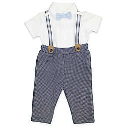 Clasix Beginnings™ by Miniclasix® Size 9M 3-Piece Shirt, Suspender and Pant Set