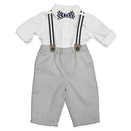 Clasix Beginnings™ by Miniclasix® 3-Piece Stripe Shirt, Suspender and Pant Set