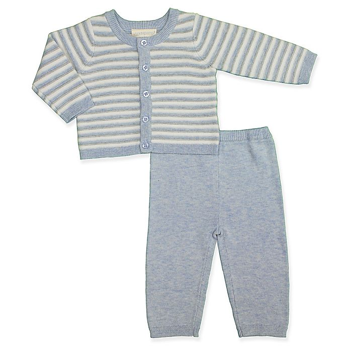 Alternate image 1 for Clasix Beginnings™ by Miniclasix® 2-Piece Cardigan and Pant Set in Blue