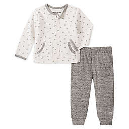 Calvin Klein 2-Piece Cardigan and Pant Set in Ivory