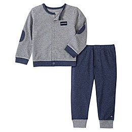 Calvin Klein 2-Piece Cardigan and Pant Set in Navy