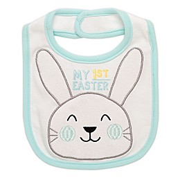 "Baby Starters® ""My 1st Easter"" Bunny Bib in White"
