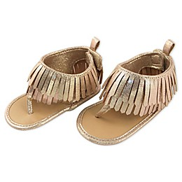 Rising Star Gold Metallic Fringe Sandal